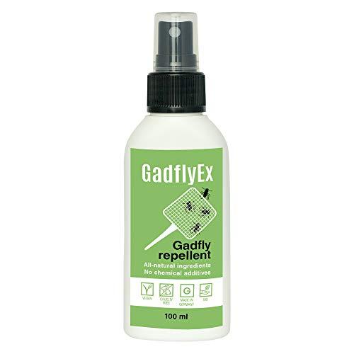 Insektenspray von GadflyEx I Fliegenspray & Bremsenspray ohne DEET I Insektenschutzmittel gegen Bremsen 100 ml I Alternative zu Insektenvernichter I Vegan mit ätherischen Ölen