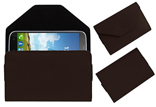 Acm Premium Pouch Case For Karbonn Titanium S9 Lite Flip Flap Cover Holder Brown  available at amazon for Rs.329