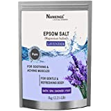 Nankings Pure Epsom Salt Enriched With Lavender Oil, For Bath, Foot, Aching Muscles & Refreshing Body (1kg)