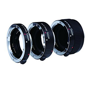 Movo Photo AF set macro tubi di prolunga per fotocamere Canon EOS DSLR con tubi da 12 20 e 36