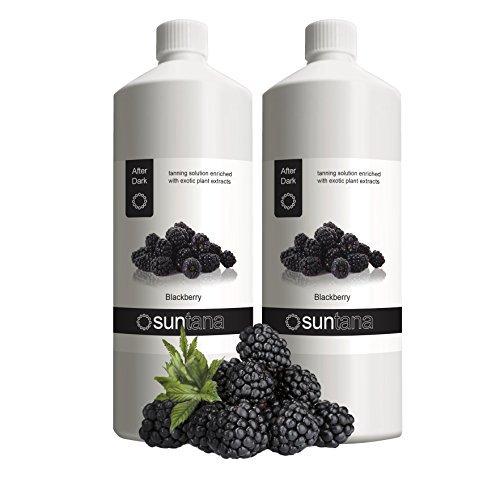 2000ml (2 x 1000ml) Suntana Blackberry Après foncé 14% DHA Spray Tan Solution
