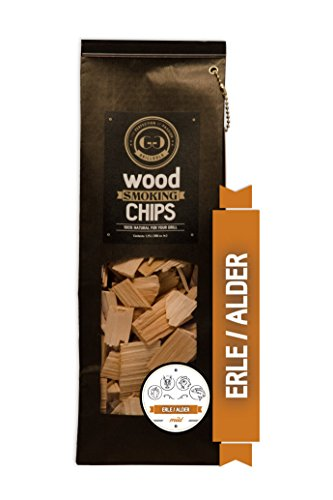 Grillgold Wood Smoking Chips – copeaux de bois d'aulne pour fumage 1,75 Liter