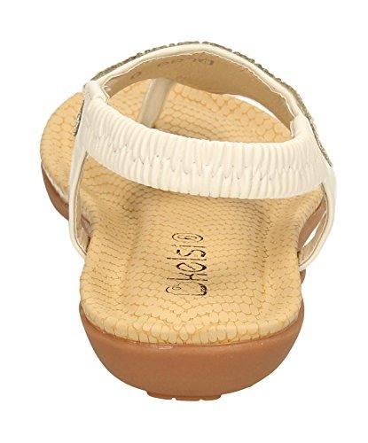 Paige Femme Mesdames Diamante à talon plat vacances Tenue Habillée de faible talon Wedge Sandales Taille 3–9- SwankySwans Blanc - blanc