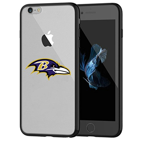 tzhülle, Stoßdämpfung TPU + Translucent gefrostet kratzfestem Hard Backplate Back Cover für iPhone 7-Schwarz ()