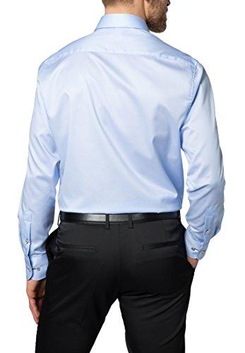 Eterna Long Sleeve Shirt Comfort Fit Twill Uni azzurro chiaro