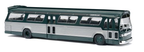 Busch Voitures - BUV44500 - Modélisme Ferroviaire - Bus Americain - FishBowl - Vert