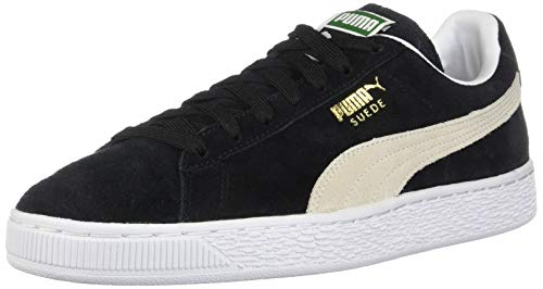 Puma Herren Suede Wildleder Classic+-m, schwarz/weiß 37.5 EU M - Ferrari Suede Sneakers