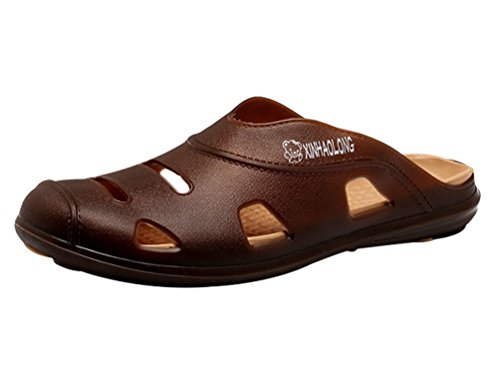 Sentao Hommes Slip-On Pantoufle Loisir Confortable Plage Chaussures Sandales Respirantes style 4