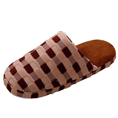 VJGOAL Damen Hausschuhe, Männer Damen Grundlegende Round Toe Indoor Home Weiche Winter Paar Schuhe...