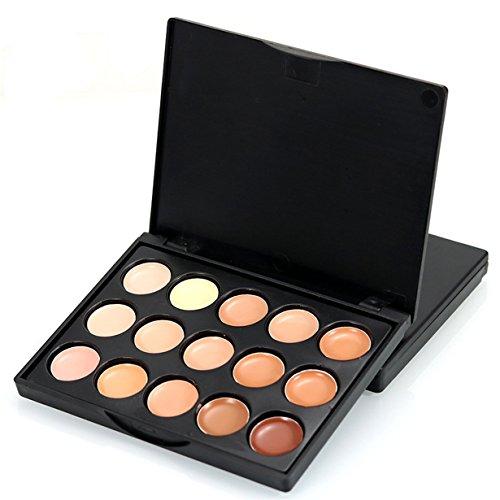 Gesicht Concealer,Loveso 15 Farben Creme Concealer Palette Highlight Gesicht Kontur Fundament Kosmetik Palette Set (One Size, B)