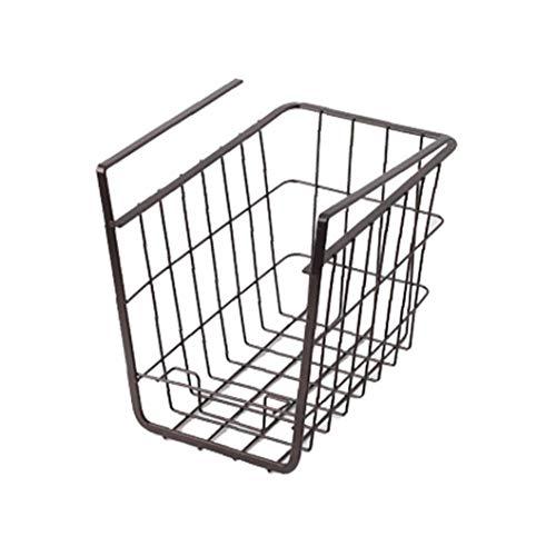 LAANCOO Unter Shelf Korb Drahtkörbe unter Regalen hängenden Speicher-Zahnstange für Küche Bücherregal Pantry-Slide in den Basket Organizer Schwarz 1PC -