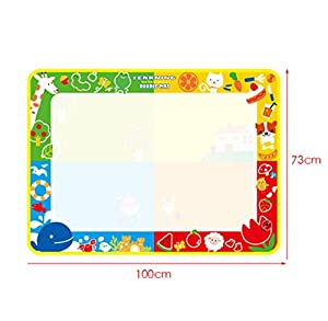 Transer® Toys for Kids - 4 Colors Doodle Water Drawing Mat Board & Magic Pen - Baby Painting Toy Gift New from Transer