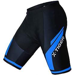 Leggings cortos de hombre de ciclismo con almohadilla gel acolchado