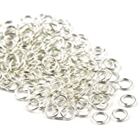 Angel Malone 100 x SILVER Superior Super Strong Metal Jump Rings Jewellery Making Findings - UK SELLER (6mm x 1mm)