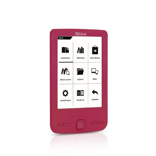TrekStor Pyrus mini 10,9 cm (4,3 Zoll) eBook Reader (2GB interne Speicher, 600 x 800 Pixel, microSDHC-Kartenleser, USB 2.0) pink
