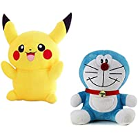 Quty Teddy Bear - Pikachu Embroidery & Doraemon Soft Toy for Kids, Children & Girls Playing Teddy Bear in Size 26 & 26…