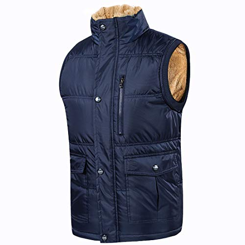 OEAK Gilet Doudoune Veste Homme Hiver Large Chaud Epaisse sans Manche Grande Taille Automne Fashion Col Montant