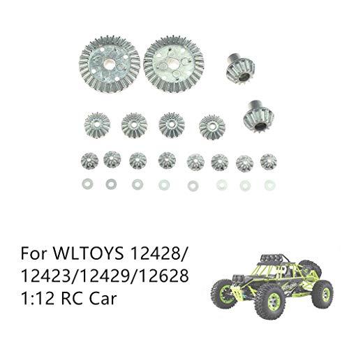 Auto-Modell Plüsch Bildung Squishy Spielzeug aufblasbares Spielzeug im Freien Spielzeug,Differentialgetriebe aus Metall für WLTOYS 12428/12429/12628 1:12 RC Car (Tundra Lift-kits Für)