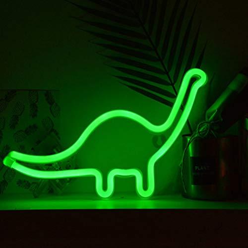 Form Design neonzeichen licht Zimmer wanddekorationen Hause led nachtlicht Home Ornament (gj-Dinosaurier grün, ohne baterry) ()