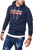 JACK & JONES Herren Hoodie Kapuzenpullover Sweatshirt Pullover Streetwear 4 Elements (XX-Large, Total Eclipse)