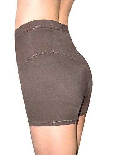 Marilyn Monroe Damen Hohe Taille engen Shorts / Shapewear / Schlanker Rosy Brown