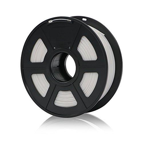 ANYCUBIC PLA 3D Drucker Filament, Toleranz beim Durchmesser liegt bei +/- 0,02mm, 1kg Spule, 1.75mm für 3D-Drucker und 3D-Stifte,Verschiedene Farben (Weiß)