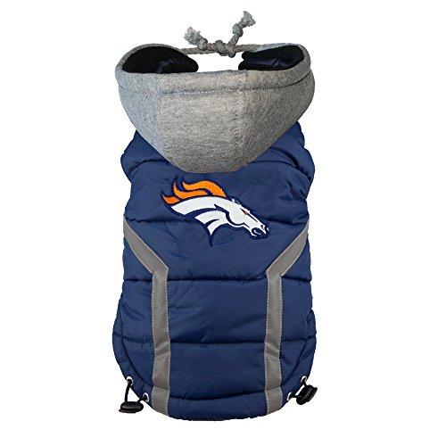 Littlearth NFL Denver Broncos Hunde-Pullover, Herren Damen Jungen Mädchen Unisex, Marineblau, Medium