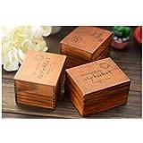 Sello de madera con caja de madera.3 modelos diferente .Letras minúsculas.mayúsculas o símbola.€7,95 cada caja
