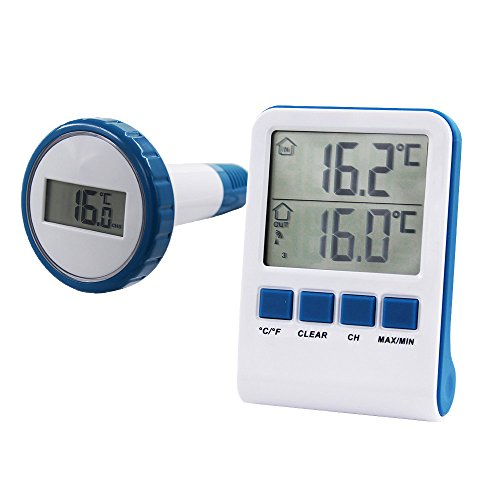 Steinbach Digitales Funk Pool Thermometer, blau, 1 x 1 x 1 cm, 061333