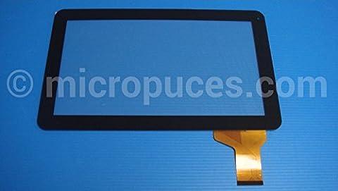 """Vitre tactile 10.1"""" noire pour écran tablette POLAROID MID2410 (15556)"""