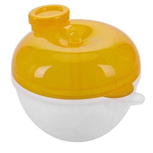 TOOGOO Formula del dispensador, no Derramamiento del bebe Leche en Polvo dispensador y Snack Cup, Baby Food Storage Container (amarillo)