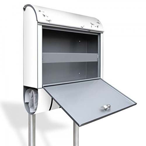 banjado – Individualisierter Briefkasten Standbriefkasten mit Burg-Wächter Standfuß und Motiv Pusteblume 2 - 2