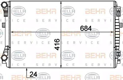 Hella 8 MK 376 901-375 refroidissement