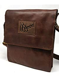 M'Cuero Leather Dark Brown Briefcases Bags Crossbody Sling