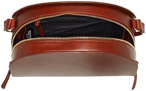 Royal Republiq Damen Galax Curva Borsa A Mano Schultertasche, 8 X 17 X 24 Cm Braun (cognac)
