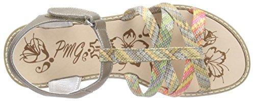 Primigi Paulette E, Sandales fille Multicolore (Vitello Laminat Taupe)