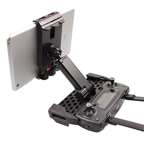 Preisvergleich Produktbild SKYREAT Tablette Halter Halterung für DJI Mavic Pro DJI Spark, 4-12 Zoll iPhone iPad Standfuß, 360 Grad drehbar - Schwarz
