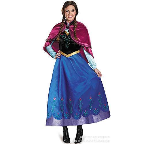 HaoLiao Roleplay Frozen, Anna Aisha Prinzessin Adult Dress, Anime Cos Show ()