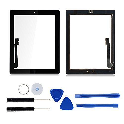 Schwarz Ersatz Digitizer Touch Screen Panel Front Glas + Werkzeug und Kleber für Apple iPad 3 3. A1403 A1430 A1416 3 G/WIFI Version