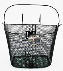 Bycicle Gear Fahrrad Lenkerkorb für Vorne mit Haken-Fahrradkorb Fahrradtasche-mit Bügel-34 x 25 x 26 cm, Schwarz