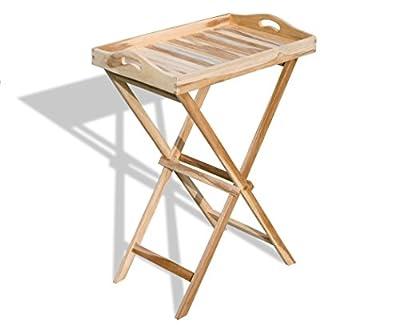 KMH®, Tablett-Tisch aus echtem Teakholz (#102121)