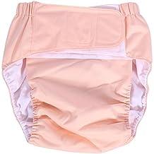 Pañal de Bolsillo para Adultos Pañal Ajustable Pañal Pantalones Lavables para Pañales Reutilizables para el Cuidado de la Incontinencia ( Color : Rosa claro )