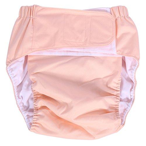 Windelhosen Inkontinenz-Erwachsene Schicht verstellbar aus Stoff Waschbar Wiederverwendbar Wollkur von Inkontinenz für Greise Palette von Größe 52–108cm