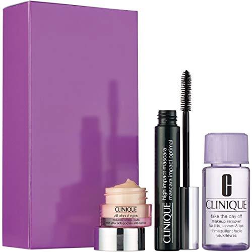 Clinique Geschenkset 7ml High Impact Mascara - Black + 5ml All About Eyes Augencreme + 30ml Make-Up
