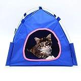 Gychee Haustierzelt im Freien großes Hundezelt tragbar, 4 Ecken zusammenklappbare Sonnencreme wasserdicht Oxford Cloth Shelter Zelt, Haustier im Freien Indoor-Haus für Katzen Hunde