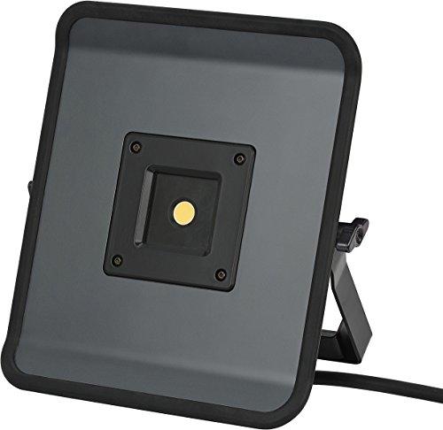 Brennenstuhl Compact LED-Leuchte / LED Strahler mit 50W Leistung und 5m Kabel (Baustrahler für außen und innen, ideal als Arbeitsleuchte) Farbe: grau