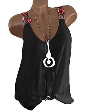 Mujer Blusa Chaleco sin mangas sexy elegante traje citas fiesta,Sonnena Las señoras de las mujeres apliques sin...
