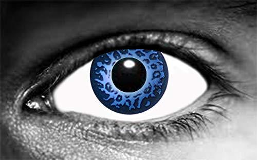 Farbige Kontaktlinsen, Leopardenmuster, Blau, 1 Paar