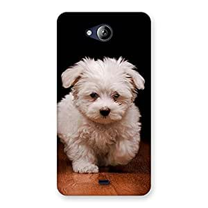 Delighted Cute Walking Dog Back Case Cover for Canvas Play Q355