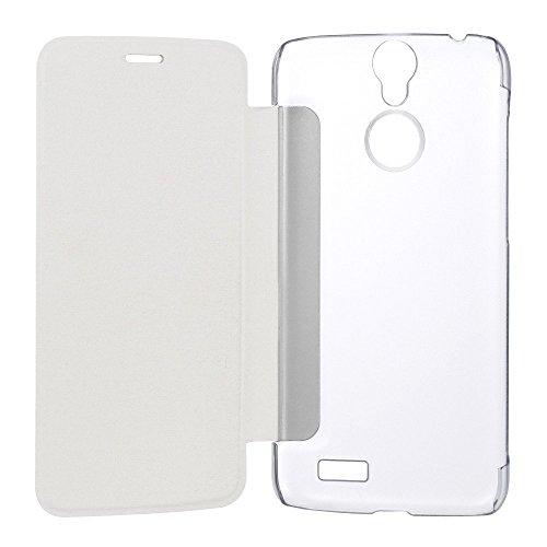 Original Vernee Thor 4G Smartphone Pu Leder Kunstleder Flip Cover mit Plastik Etui Handy Tasche Hülle Case Handytasche Handyhülle Schutzhülle